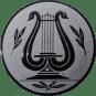Emblem 50mm LYRA, silber