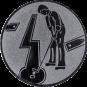 Emblem 50mm Minigolf männl., silber