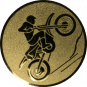 Emblem 50mm Motocross, gold