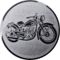 Emblem 50mm Motorrad, silber