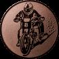 Emblem 50mm Motorradfahrer 2, bronze