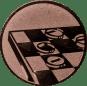 Emblem 50mm Mühle, bronze