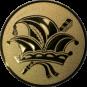 Emblem 50mm Narrenkappe, gold