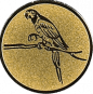 Emblem 25mm Papagei, gold