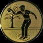 Emblem 50mm Petanque männl., gold