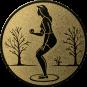 Emblem 50mm Petanque weibl., gold