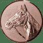 Emblem 50mm Pferd 3D, bronze