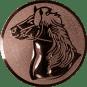 Emblem 50mm Pferd, bronze