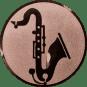 Emblem 50mm Saxophone, bronze