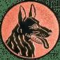 Emblem 25mm Schäferhund, bronze