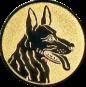 Emblem 25mm Schäferhund, gold