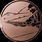 Emblem 50mm Schütze m. Schrotflinte, bronze schießen