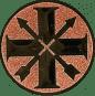Emblem 25mm Schützenkreuz, bronze schießen