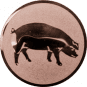 Emblem 50mm Schwein, bronze