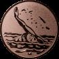 Emblem 50mm Schwimmer Rücken, bronze