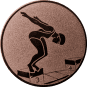 Emblem 50mm Schwimmer Startsprung, bronze