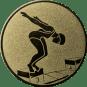 Emblem 50mm Schwimmer Startsprung, gold