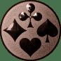 Emblem 50mm Skat, bronze