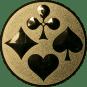 Emblem 50mm Skat, gold