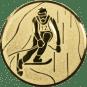 Emblem 50mm Ski Alpin, gold