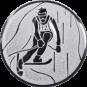 Emblem 50mm Ski Alpin, silber