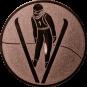 Emblem 50mm Skispringer, bronze