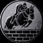 Emblem 50mm Springreiter Mauer, silber