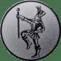 Emblem 50mm Tambourmajor, silber
