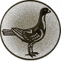 Emblem 25mm Taube rechts, silber