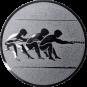 Emblem 50mm Tauziehen, silber