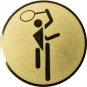 Emblem 50mm Tennis Symbol, gold