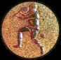Emblem 50mm Tennisspieler, bronze 3D
