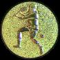 Emblem 50mm Tennisspieler, gold 3D