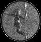 Emblem 25mm Tennisspielerin, siber 3D