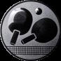 Emblem 50mm Tischtennisschläger, silber