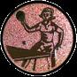 Emblem 50mm Tischtennisspielerin, bronze