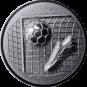 Emblem 50mm Tor, Fußball, Schuh, 3D, silber