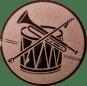 Emblem 50mm Trommel Trompete, bronze