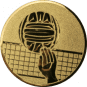 Emblem 50mm Volleyball mit Hand, gold