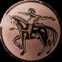 Emblem 25mm Voltigieren, bronze
