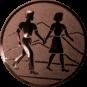 Emblem 50mm Wanderer Paar, bronze