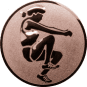 Emblem 50mm Weitspringerin, bronze