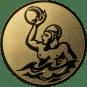 Emblem 50mm Werfer Wasserball, gold