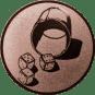 Emblem 50mm Würfelbecher, bronze