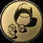 Emblem 50mm Würfelbecher, gold