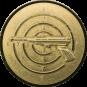 Emblem 50mm Zeilsch. Pistole 3D, gold schießen