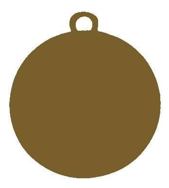 """Medaille """"Chalkis"""" Ø 45 mm inkl. Wunschemblem und Kordel bronze"""