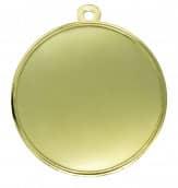 """Medaille Akragas"""" Ø 70mm mit Wunschemblem und Band gold"""