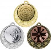 """Medaille """"Pydna"""" Ø 70mm mit Wunschemblem und Band bronze"""