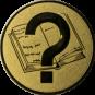 Emblem 25 mm Buch, gold